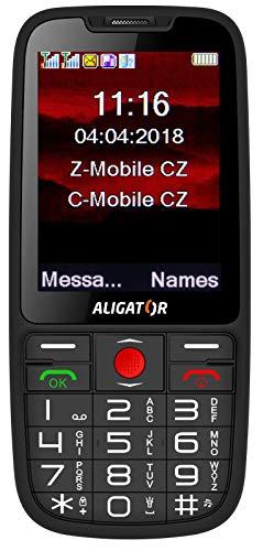 Aligator A890 Seniorenhandy mit SOS Taste und GPS Locator (Schwarz)