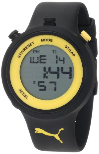 PUMA Men's PU910901006 Go Digital Black Yellow Watch