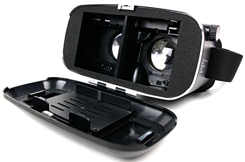 3D Virtual-Reality-Brille (VR) / Video Game Brille von DuraGadget mit Magnet-Verschluß für 2018 Samsung Galaxy A8 | A8+ | A8 Plus Smartphone