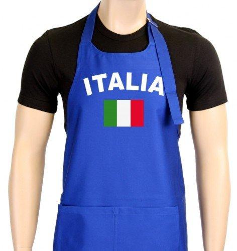 Coole-Fun-T-Shirts Uni Grillschürze EM 2012 Italien, blau, One size, GS10483_Italien_blau (2012 Schürze)