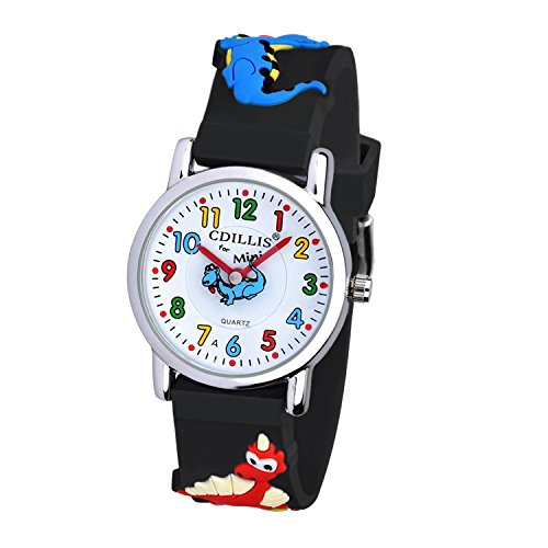 Kids watch Handgelenk Uhren Cute My First Easy Reader Wasserdicht Time Teacher Kinder Armbanduhr 3D Cartoon Quarz in für Jungen Mädchen (Kids-uhren)