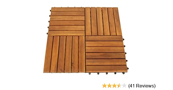 Degamo Set Holzfliesen 12 Stück Aus Akazienholz 30x30cm Amazon