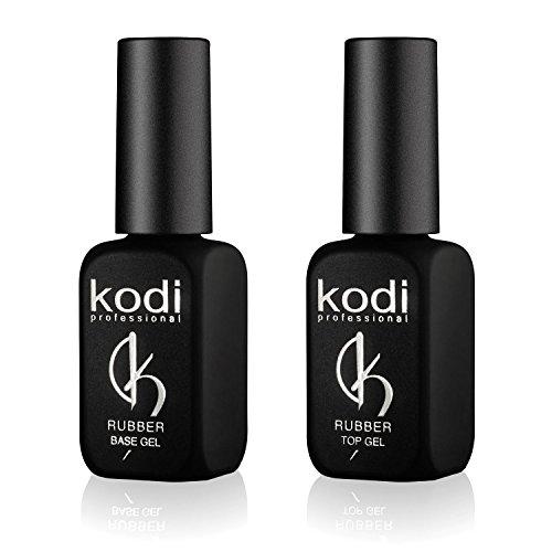 Kodi Professional Top & Base Coat Unterlack & Überlack Set 12ml | Einweichgel, Nagelpolitur-Set | Für langlebige Nägel | Einfach zu verwenden, ungiftig & geruchlos | Aushärtung unter LED oder UV-Lampe