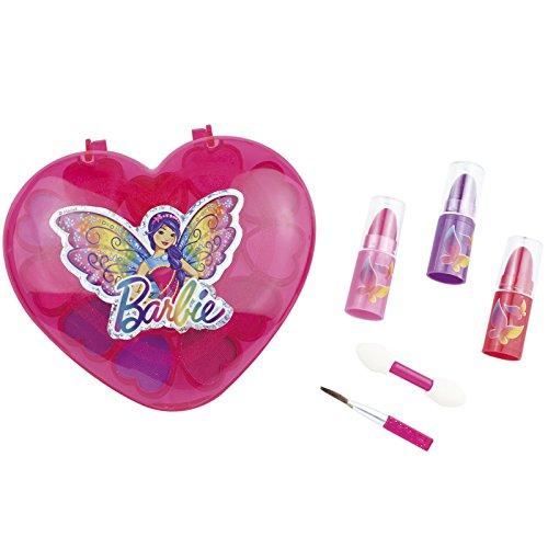 Barbie Schmink-Set'Herz mit Spiegel' geprüfte Kosmetik wie Lidschatten und Lipgloss •...