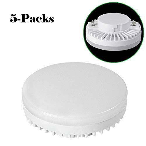 Einem Kandelaber-buchse (Hplights GX53 LED Lampe 9W, GX53 Leuchtmittel Nicht Dimmbar, Ersatz 50W GX53 Halogenlampen,900Lumen,3000K-6000K,120 Grad Winkel,CRI> 80,GX 53 LED Glühlampe,5er Pack [Energieklasse A+], NCZ03,A)