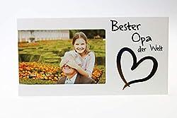 Kamaca Bilderrahmen Fotorahmen aus Holz und Glas für Ihren Lieblingsmensch für Fotos 15x10 cm (Bester Opa der Welt)