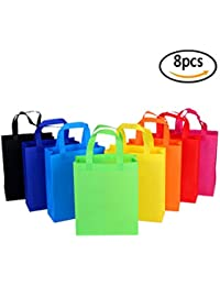 Gorgeous 8PCS Reusable Grocery Bags,Ripstop Non Woven Fabric Reusable Shopping Bags,Washable,Durable And Lightweight