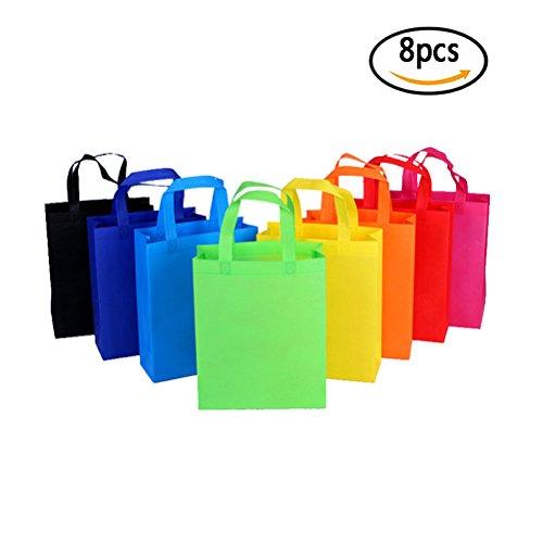 8 Stück wiederverwendbare Faltbar Einkaufstaschen Mama Shopping Bags Lebensmittelbeutel waschbar Geschenktasche Aufbewahrungstasche Für Obst Gemüse Haltbar und Leicht Assorted Colors