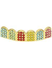 MCSAYS: Diamantes micro para dientes, 6 piezas coloridas en tono para un estilo Hip Hop