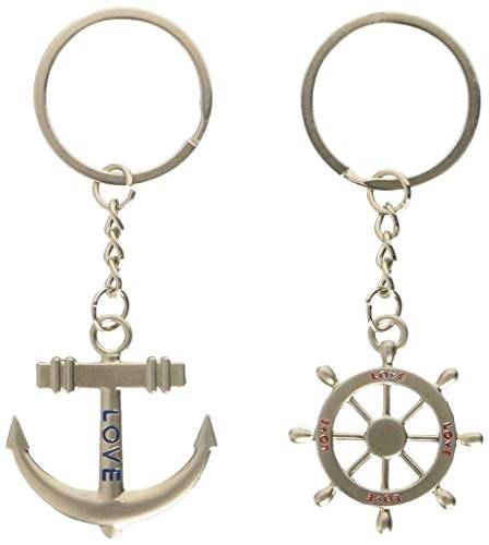 trixes-silver-cute-love-anchor-and-rudder-keyrings-romantic-gift-marine-boat-chain