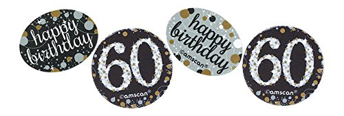 amscan 360188 34 G Gold Celebration 60. Konfetti