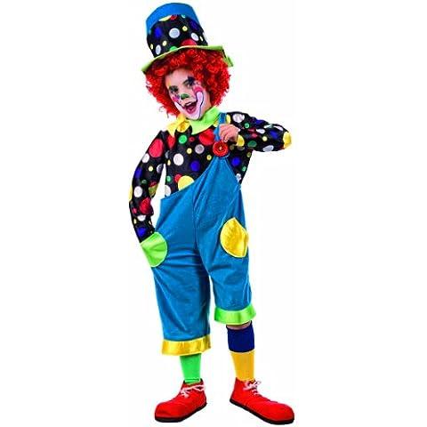 Limit Sport MI620 - Costume da clown per bambini, 3 pezzi: camicia, cappello e pettorina, taglia 128-140 - Lima Cappello
