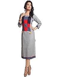 PinkLoom Long Designer Ladies Kurti Of Handloom Khadi Cotton For Women Party Wear (exclusive Quality Ladies Kurti)