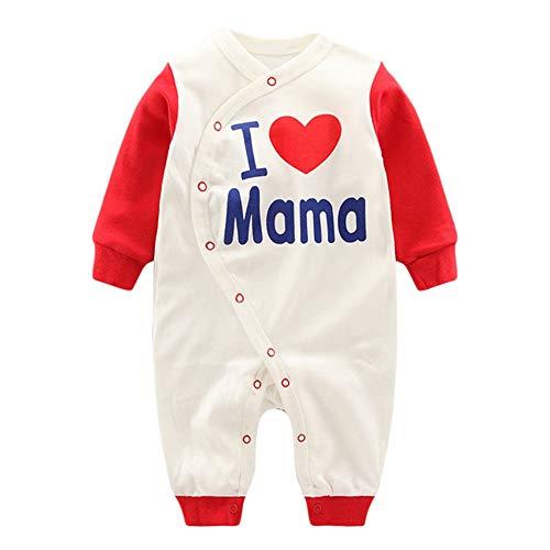 Anywow Neugeborenen Unisex Baby Overall Säugling Baby Mädchen Jungen Body I Love Mama Papa Süße Zwillinge Strampler 0-12 Monate