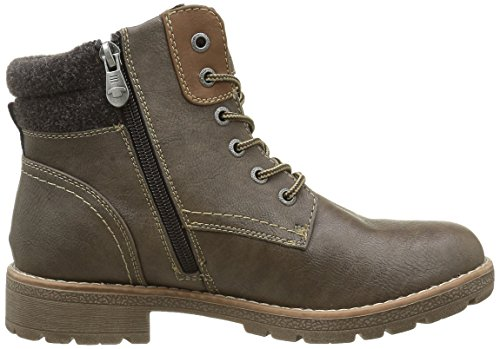 Tom Tailor 1692004, Bottines non doublées femme Marron - Marron (taupe)