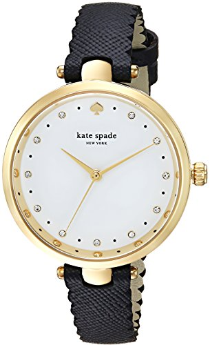 Kate Spade New York Women's Analog Japanese-Quartz Watch with Leather Calfskin Strap KSW1356