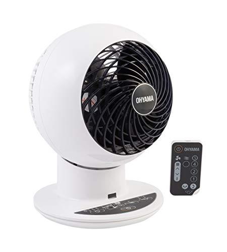 Iris Ohyama, Ventilateur Silencieux, Oscillant et Ultra-Puissant avec Télécommande - Woozoo - PCF-SC15T, blanc, 38 W, 30 m², portée 25 m