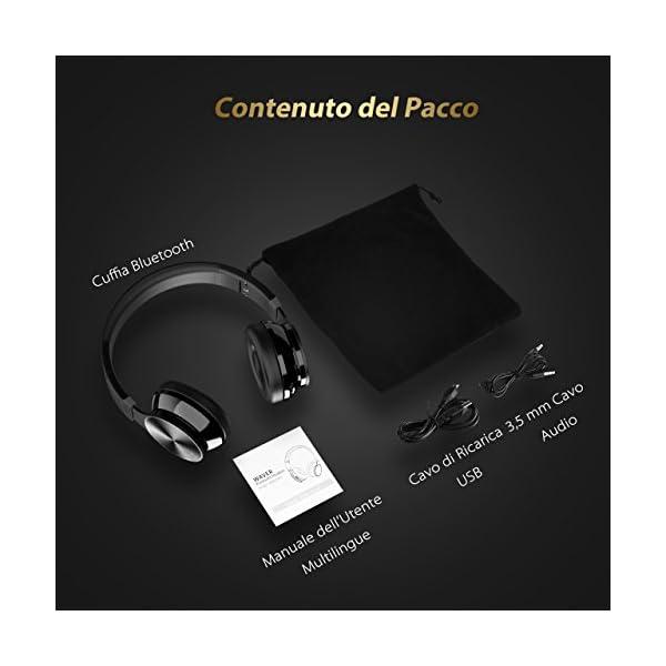 Bluetooth Cuffie Stereo OMorc Waver Wireless Headphones Pieghevole ... 3caf31aed4f3