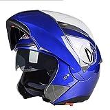 Männer sicherer Flip Up Motorradhelm mit innerer Sonnenblende Double Lens Motorradhelm für Damen