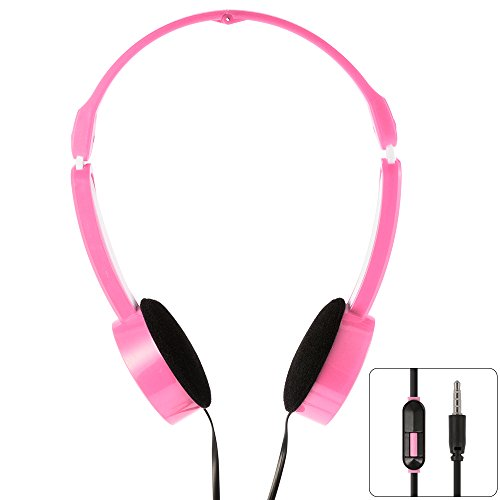 Price comparison product image XCSOURCE 3.5mm Universal Foldable Scalable Line Control MP3 Music Headsets Kids Childs Over-Ear Headphones Pink TH336