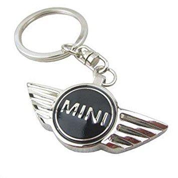 new-mini-cooper-black-metal-car-keyring