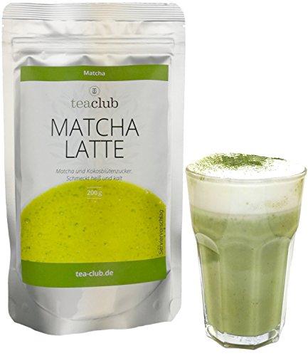 20% Matcha Tee Pulver und Kokosblütenzucker 200g, Vegan Glutenfrei, Grüntee-Pulver mit Koskosblütenzucker, TeaClub ()