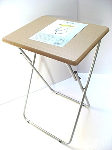 small-folding-foldable-occasional-tv-table-tea-coffee-bed-side-with-metal-legs-beech-silver