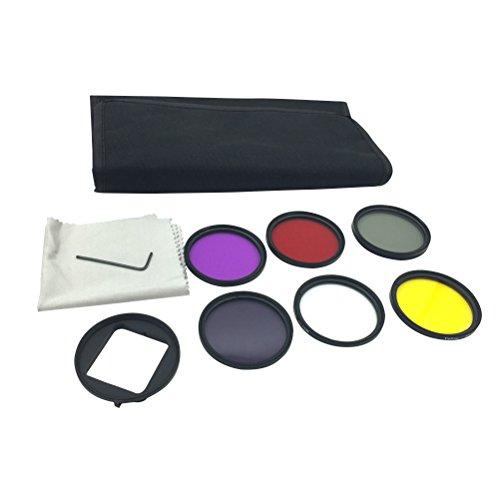LEDMOMO 6 pcs 52mm Caméra Filtre Lentille CPL UV ND4 Ensembles de Filet Accessoires pour Gopro Hero 4 3+