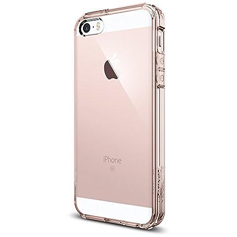 Coque iPhone 5s, Spigen Coque iPhone 5S / 5 / SE [Ultra Hybrid] Coussin d'Air [Rose Crystal] La Face Arriere Claire + Bumper en TPU Protection anti chocs Back Cover Bumper Housse Etui Coque Pour Apple iPhone 5S / 5 / SE (041CS20172)