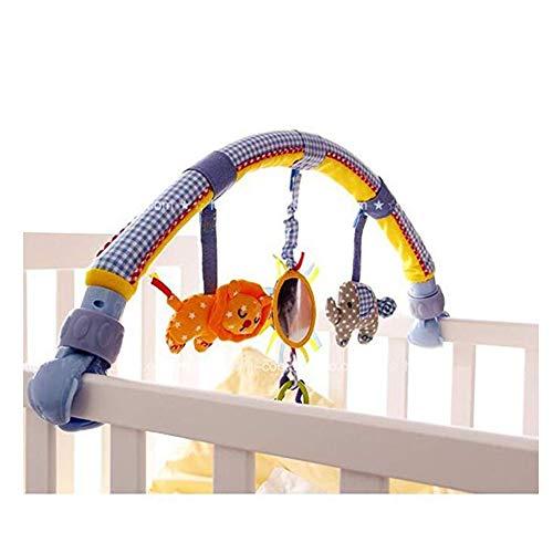 Morbuy Cama de música para bebé Colgantes y Cunas Decoraciones de Buggy con Arco de Doble Uso de suspensión...