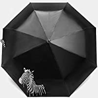 YUSHANS Color Changing Folding Portable Umbrella Sunshade Zebra Parasol Rain Shade Anti-UV