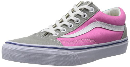 Vans Old Skool, Zapatillas Unisex Adulto, Rosa (Gray/Pink), 37
