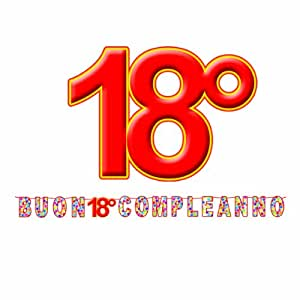 BiG Party Kit Scritta maxi Buon 18 Compl. Stardust mt.6
