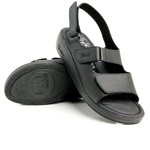 Batz OSZ Sandales, Mules en Cuir de Qualité Supérieure Femme Noir