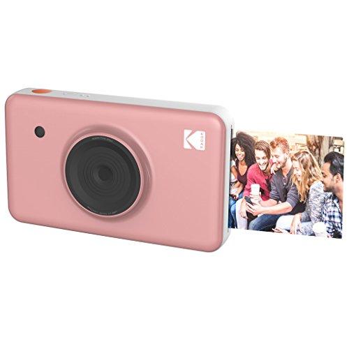 Kodak Mini SHOT Impresiones inalámbricas de 2x3 pulgadas con 4 PASS Tecnología de impresión patentada Cámara digital de impresión instantánea 2 en 1 (Rosado)
