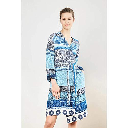 Albornoz Exotic Jeans Jacquard–Desigual, algodón, azul, medium