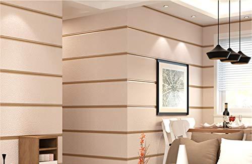 Tapete Breite Streifen-KhakiModerne Vliestapete Poster Wand-dekor Für Hotel Büro Wohnzimmer Küche -