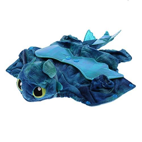 Sharplace Halloween Hundekleidung Drachen Cosplay Kostüm für Hunde und Katzen - Blau, M