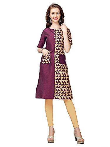 Glory Sarees Women's Silk Kurta (clothix10
