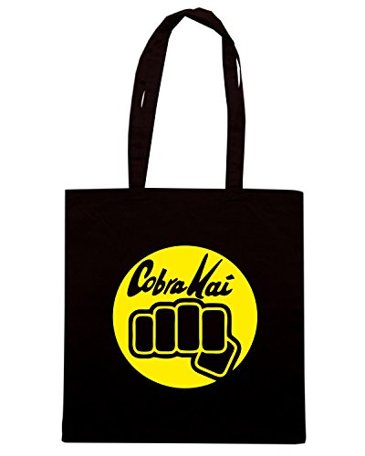 T-Shirtshock - Borsa Shopping TR0037 Cobra Kai T-Shirt Nero