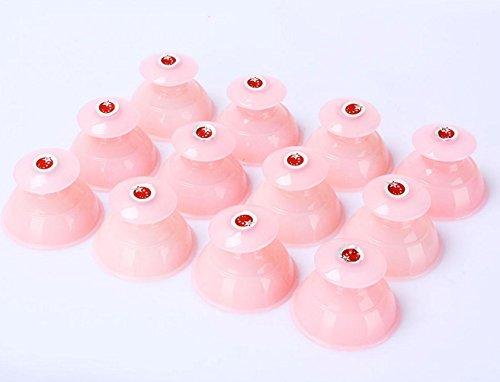 GxNI Vakuum Schröpfen Massage Set 10pcs Magnet Biomagnetic Chinesischen Schröpfen Therapie Set Tragbare Silikon Soft Rubber Dosen Rot Rosa, Pink -