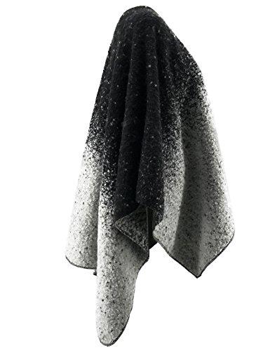 SAMGOO - Poncho - Cappotto -  donna nero
