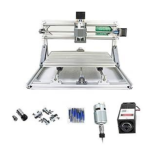 PW Mini DIY cnc3018+ 5500mW Laser GRBL Control, 3Axis PCB PVB Milling Machine, Wood Router Engraver CNC 3018