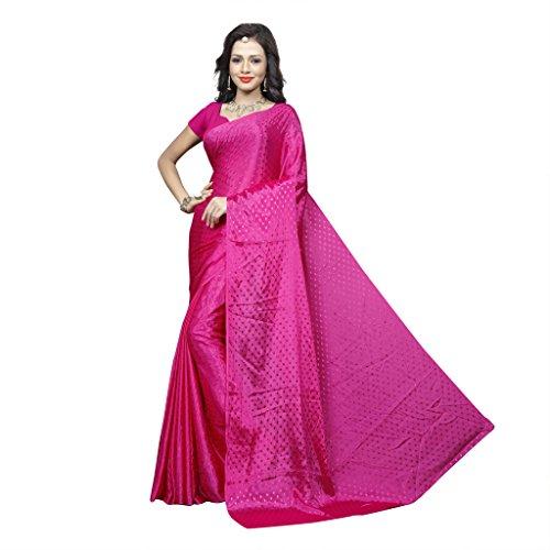 Sonika Brasso Saree (Cnn005_Dark Pink)