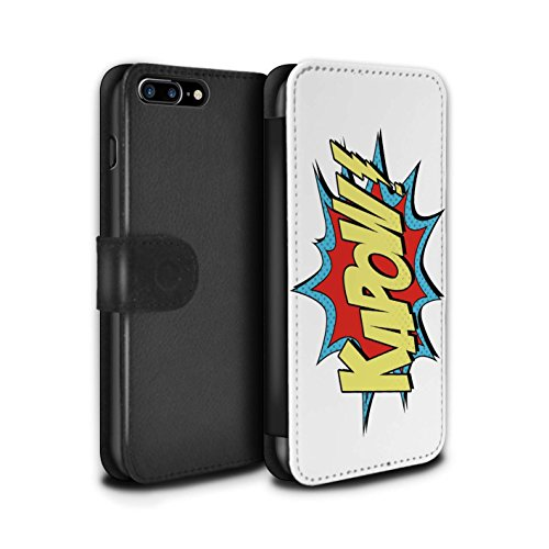 STUFF4 PU-Leder Hülle/Case/Tasche/Cover für Apple iPhone 7 Plus / Zap Muster / Comics/Karikatur Wörter Kollektion Kapow!