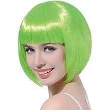 Amazon.co.uk: green bob wig