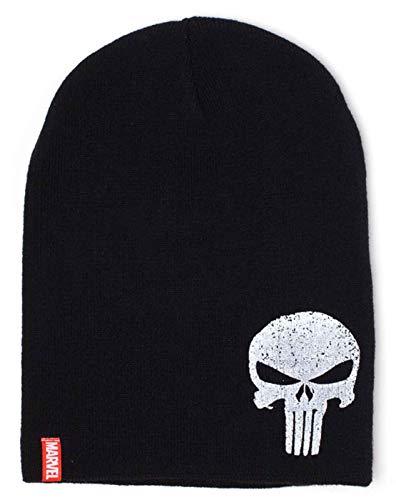 b125d8536e9 Marvel Punisher Mütze Beanie Skull Logo Nue offiziell Schwarz Slouch