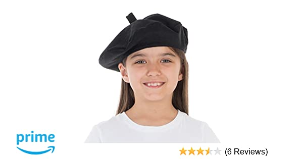 Charlie Crow Black Beret costume accessory for kids. One size 3-12 Years.   Amazon.co.uk  Toys   Games e038a3ed826