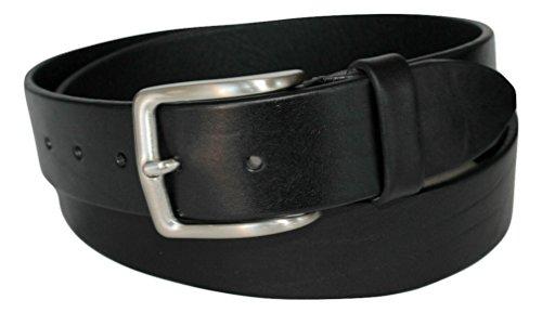 Cintura in Cuoio Nera, Alta 4cm, Uomo, Donna, Vera Pelle, Produzione Artigianale, Made in Italy, Accorciabile (Girovita 110 cm = Lung. totale cm 125)