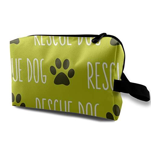 Rettungshund Kalk Big_752 Tragbare Reise Make-Up Kosmetiktaschen Organizer Multifunktions Fall Taschen für Frauen